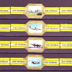 Vitolas de colección: HENRI WINTERMANS, AVIONES MILITARES, AMARILLO, 12 VITOLAS, SERIE COMPLETA.. Lote 151439686