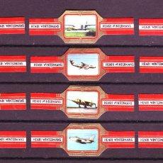 Vitolas de colección: HENRI WINTERMANS, AVIONES MILITARES, ROJO, 12 VITOLAS, SERIE COMPLETA.. Lote 151439790