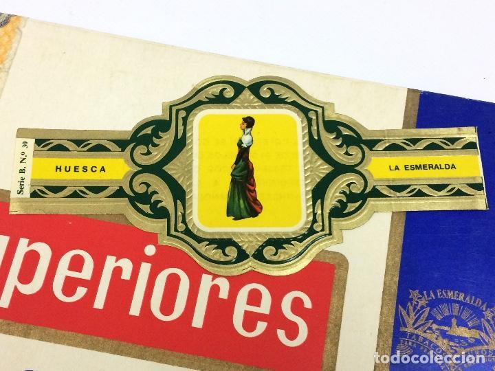 ETIQUETA PUROS, VITOLA. SERIE B Nº30 HUESCA. LA ESMERALDA. TAJES TÍPICOS PROVINCIAS ESPAÑOLAS. (Coleccionismo - Objetos para Fumar - Vitolas)