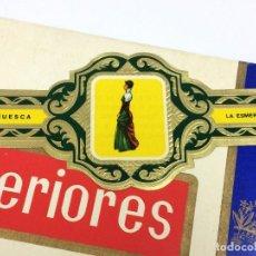 Vitolas de colección: ETIQUETA PUROS, VITOLA. SERIE B Nº30 HUESCA. LA ESMERALDA. TAJES TÍPICOS PROVINCIAS ESPAÑOLAS.. Lote 151546106