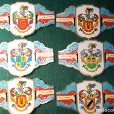 Vitolas de colección: LOTE VITOLAS ALVARO SERIE II HERALDICA. Lote 151941158