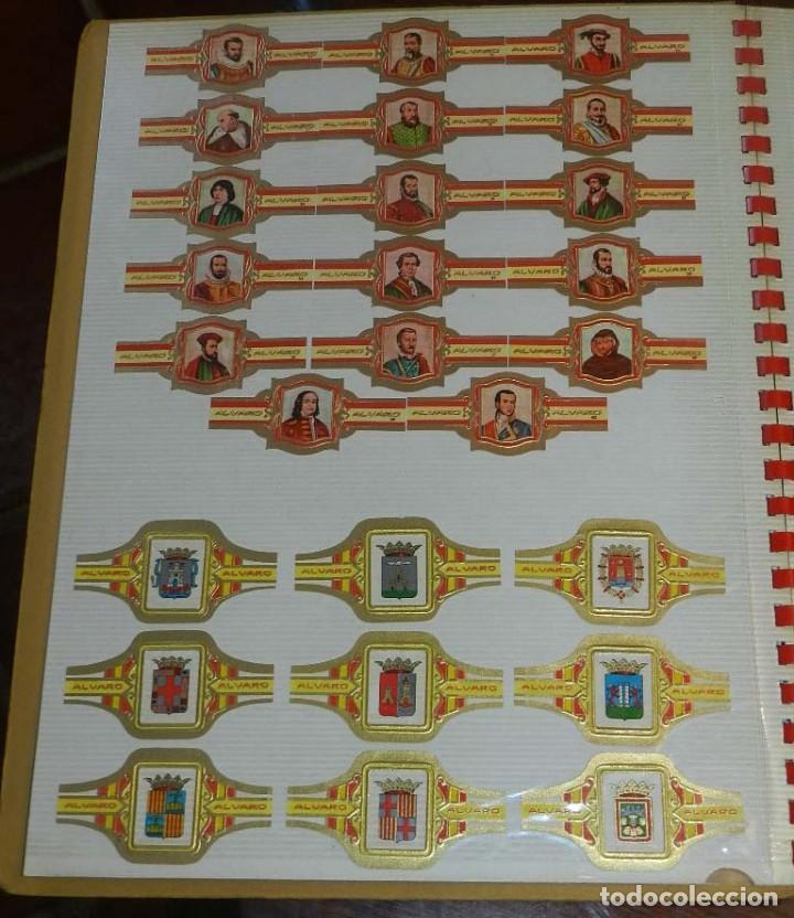 Vitolas de colección: ÁLBUM DE VITOLAS ÁLVARO, FÁBRICA DE TABACOS. (135 VITOLAS). CONQUISTADORES, ESCUDOS DE LAS PROVINCIA - Foto 4 - 151959574