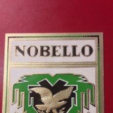 Vitolas de colección: ETIQUETA CARTEL TABACO NOBELLO PRIMA QUALITAT. Lote 152933044