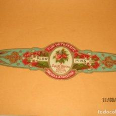 Vitolas de colección: ANTIGUA VITOLA CLÁSICA GRAN TAMAÑO FLOR DE TENERIFE BREVAS A LA CONSERVA LUIS Z.BENITEZ. Lote 155013218