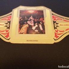 Vitolas de colección: VITOLA ALVARO - SERIE CUADROS DE PINTORES ESPAÑOLES - PENTECOSTES - ZURBARAN. Lote 155716070