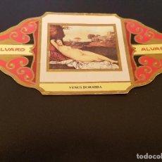 Vitolas de colección: VITOLA ALVARO - SERIE EL DESNUDO EN EL ARTE - VENUS DORMIDA. Lote 155716086