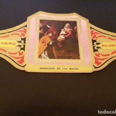 Vitolas de colección: VITOLA ALVARO - SERIE CUADROS DE PINTORES ESPAÑOLES - ADORACION DE LOS MAGOS - VELAZQUEZ. Lote 155716110