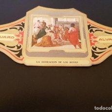 Vitolas de colección: VITOLA ALVARO - SERIE CUADROS DE PINTORES ESPAÑOLES - LA ADORACION DE LOS REYES - EL GRECO. Lote 155716118