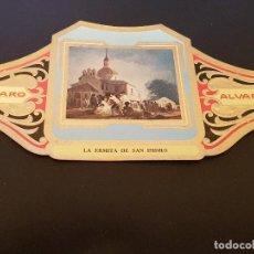 Vitolas de colección: VITOLA ALVARO - SERIE CUADROS DE PINTORES ESPAÑOLES - APARICION DE LA VIRGEN A SAN BERNARDO - MURILL. Lote 155716162