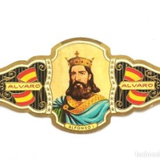 Vitolas de colección: VITOLA GRANDE - FABRICA TABACOS ALVARO - Nº 36 - ALFONSO I. Lote 155851942