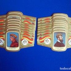 Vitolas de colección: ALVARO, ESCULTORES, 59 VITOLINAS, SERIE COMPLETA.. Lote 155852694
