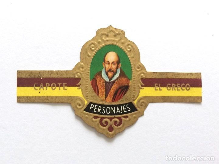 VITOLA - CAPOTE - PERSONAJES Nº 9 - EL GRECO (Coleccionismo - Objetos para Fumar - Vitolas)