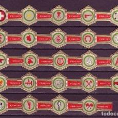 Vitolas de colección: PRINCEPS, INSIGNIAS, 24 VITOLAS, SERIE COMPLETA.. Lote 155990118