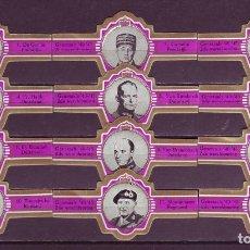 Vitolas de colección: PRINCIPAL, GENERALES DE LA II GUERRA MUNDIAL, S.M. FUXIA, 12 VITOLAS, SERIE COMPLETA.. Lote 155990202