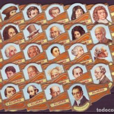 Vitolas de colección: ALVARO, FILOSOFOS, SERIE 2ª, 24 VITOLAS, SERIE COMPLETA.. Lote 155990894