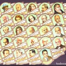 Vitolas de colección: ALVARO, FILOSOFOS, SERIE 3ª, 24 VITOLAS, SERIE COMPLETA.. Lote 155990922