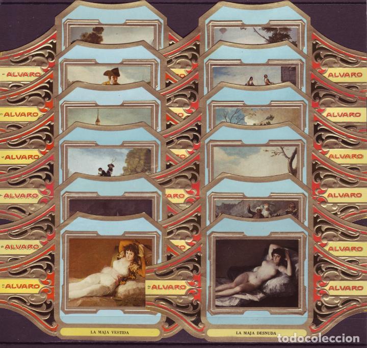 ALVARO, GOYA, SERIE 2ª, 12 VITOLINAS, SERIE COMPLETA. (Coleccionismo - Objetos para Fumar - Vitolas)