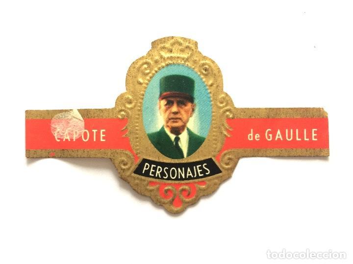 VITOLA - CAPOTE - PERSONAJES Nº 8 - DE GAULLE (Coleccionismo - Objetos para Fumar - Vitolas)