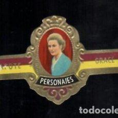 Vitolas de colección: TABACOS CAPOTE S.A. - COLECCIÓN PERSONAJES - 8 GRACE. Lote 156657530