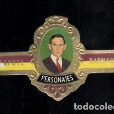 Vitolas de colección: TABACOS CAPOTE S.A. - COLECCIÓN PERSONAJES - 24 BARNARD. Lote 156657850