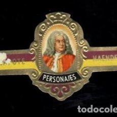 Vitolas de colección: TABACOS CAPOTE S.A. - COLECCIÓN PERSONAJES - 23 HAENDEL. Lote 156658026