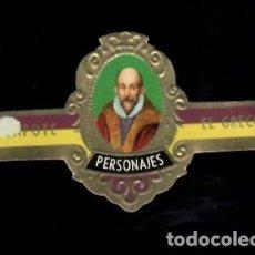 Vitolas de colección: TABACOS CAPOTE S.A. - COLECCIÓN PERSONAJES - 9 EL GRECO. Lote 156658046