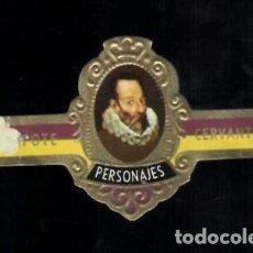 Vitolas de colección: TABACOS CAPOTE S.A. - COLECCIÓN PERSONAJES - 16 CERVANTES. Lote 156658454