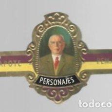 Vitolas de colección: TABACOS CAPOTE S.A. - COLECCIÓN PERSONAJES - 4 PEMAN. Lote 156659282