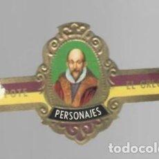 Vitolas de colección: TABACOS CAPOTE S.A. - COLECCIÓN PERSONAJES - 9 EL GRECO. Lote 156659534