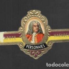 Vitolas de colección: TABACOS CAPOTE S.A. - COLECCIÓN PERSONAJES - 23 HAENDEL. Lote 156659638