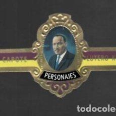 Vitolas de colección: TABACOS CAPOTE S.A. - COLECCIÓN PERSONAJES - 22 LUTERO KING. Lote 156659694