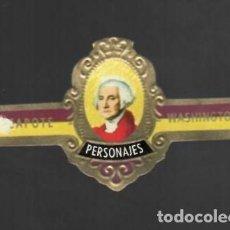 Vitolas de colección: TABACOS CAPOTE S.A. - COLECCIÓN PERSONAJES - 7 WASHINGTON. Lote 156659734