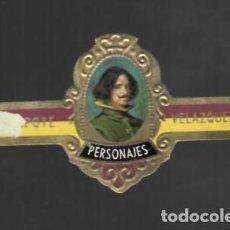 Vitolas de colección: TABACOS CAPOTE S.A. - COLECCIÓN PERSONAJES - 18 VELÁZQUEZ. Lote 156660118