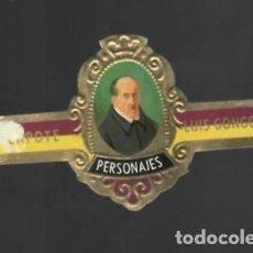 Vitolas de colección: TABACOS CAPOTE S.A. - COLECCIÓN PERSONAJES - 14 LUIS GÓNGORA. Lote 156660202