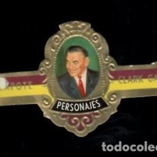 Vitolas de colección: TABACOS CAPOTE S.A. - COLECCIÓN PERSONAJES - 10 CLARK GABLE. Lote 156660478