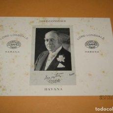 Vitolas de colección: HABILITACIÓN VISTA INTERIOR TABACOS HABANA FLOR RAFAEL GONZALEZ LITOGRAFIADA . Lote 157384878