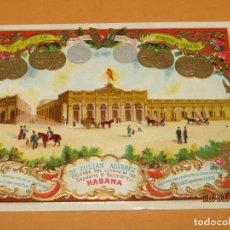 Vitolas de colección: HABILITACIÓN PAPELETA TABACOS HABANA CUBA HENRY CLAY DE JULIAN ÁLVAREZ LITOGRAFIADA Y DORADA. Lote 157415126