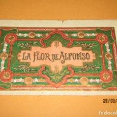 Vitolas de colección: HABILITACIÓN VISTA INTERIOR TABACOS HABANA CUBA LA FLOR DE ALFONSO LITOGRAFIADA Y DORADA. Lote 157503634