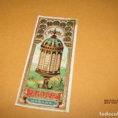 Vitolas de colección: HABILITACIÓN PAPELETA TABACOS HABANA CUBA REAL FÁBRICA LA LEGITIMIDAD LITOGRAFIADA Y DORADA. Lote 157504650