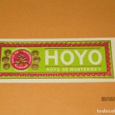 Vitolas de colección: HABILITACIÓN TABACOS HABANA CUBA HOYO DE HOYO DE MONTERREY LITOGRAFIADA Y DORADA. Lote 157513650