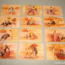 Vitolas de colección: VITOLAS GRAN TAMAÑO COLECCIÓN COMPLETA 1/12 LANCES SUERTES DEL TOREO CENTENARIO DE FARIAS 1889-1989. Lote 158169250