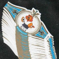 Vitolas de colección: WASHINGTON. SERIE DE VITOLAS COMPLETA (20 UNIDADES) EN FORMATO CLÁSICO (VM). MASCOTAS DE FÚTBOL.. Lote 158912370