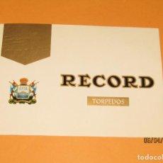 Vitolas de colección: LITOGRAFIA HABILITACIÓN VISTA INTERIOR FÁBRICA TABACOS ISLAS CANARIAS TORPEDOS RECORD LITOGRAFIADA. Lote 159339630