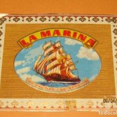 Vitolas de colección: LITOGRAFIA HABILITACIÓN VISTA EXTERIOR FÁBRICA TABACOS ISLAS CANARIAS LA MARINA. Lote 159339902