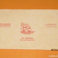 Vitolas de colección: LITOGRAFIA HABILITACIÓN BOCETÓN FÁBRICA TABACOS ISLAS CANARIAS LA MARINA. Lote 159340018