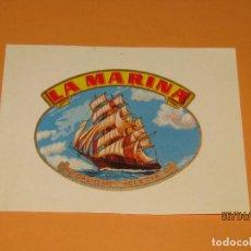 Vitolas de colección: LITOGRAFIA HABILITACIÓN VISTA INTERIOR FÁBRICA TABACOS ISLAS CANARIAS LA MARINA. Lote 159340082