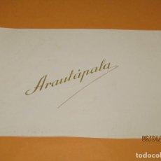 Vitolas de colección: LITOGRAFIA HABILITACIÓN BOCETÓN FÁBRICA TABACOS ISLAS CANARIAS ARAUTÁPALA. Lote 159341874