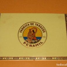 Vitolas de colección: LITOGRAFÍA VISTA EXTERIOR HABILITACIÓN FÁBRICA TABACOS ISLAS CANARIAS PEÑAMIL. Lote 159345674