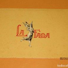 Vitolas de colección: LITOGRAFÍA HABILITACIÓN BOCETÓN FÁBRICA TABACOS ISLAS CANARIAS LA FAMA. Lote 159346514