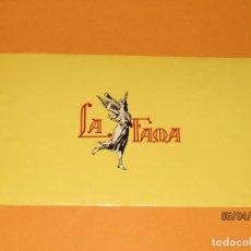 Vitolas de colección: LITOGRAFÍA HABILITACIÓN VISTA INTERIOR FÁBRICA TABACOS ISLAS CANARIAS LA FAMA. Lote 159346686